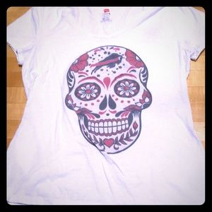 Buffalo Bills sugar skull tee